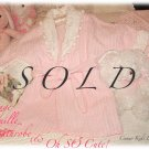 Pretty In Pink ~ Girls ~ Vintage ~ Chenille Bathrobe ~ Boutique Style ~ Pink Roses ~ Pom-Poms
