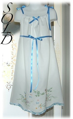 ShaSha - Embroidered Lambs Pillowcase Dress - Easter Dresses for Little Girls