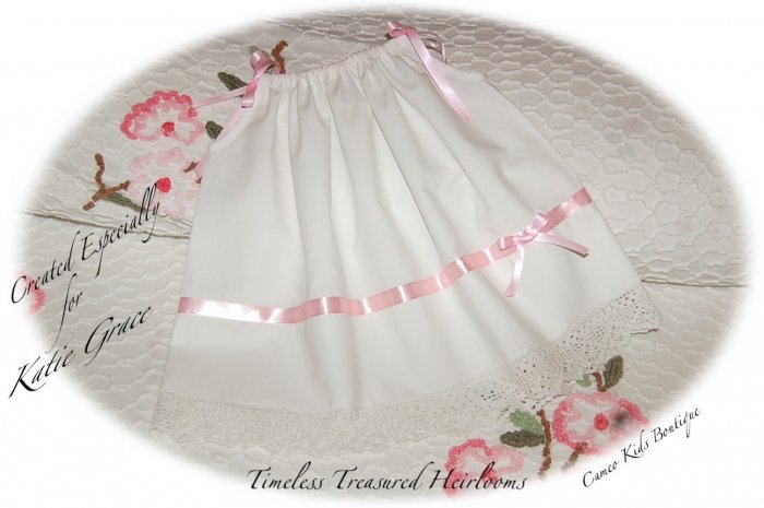 Special Request Order for Wilks - Francesca - Vintage Pillowcase Dress - Day Gown