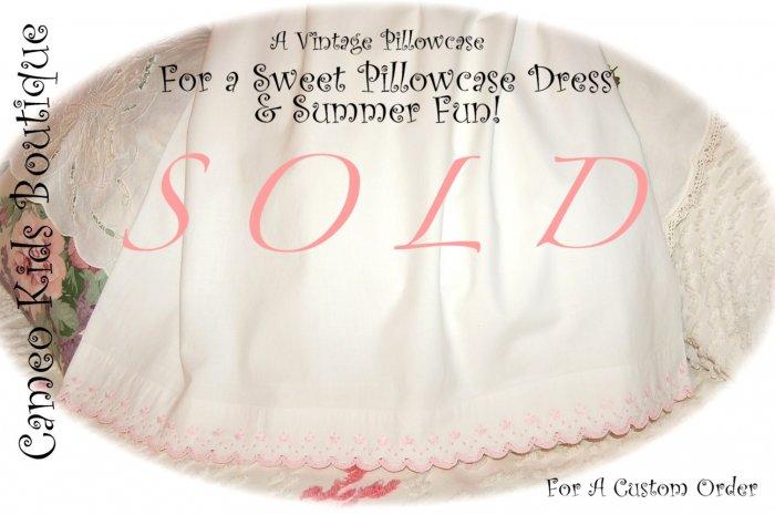 Kristen - Vintage Pillowcase Dress - Summer Dresses for Little Girls