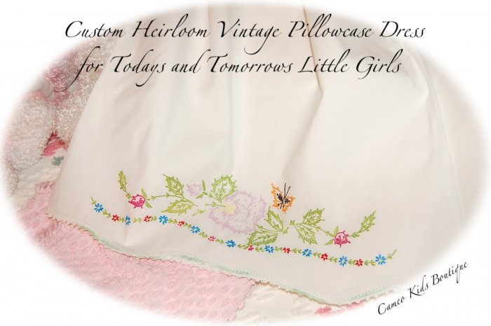 Courtney - Pillowcase Dress - Little Girls - Boutique Couture - Vintage Heirlooms