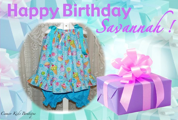 Special Request for Jamie Knestaut - Pillowcase Dress - Pantaloons - Birthday Cupcake Fabric