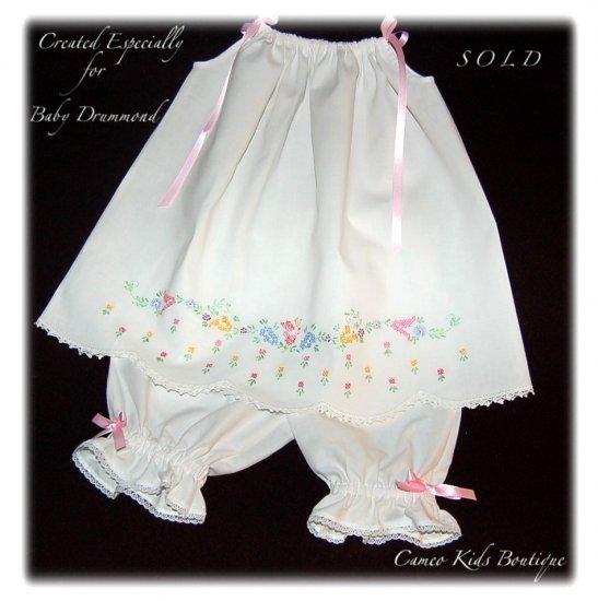 Molly - Vintage Pillowcase Dress - Embroidered Little Girls Dresses - Custom Order