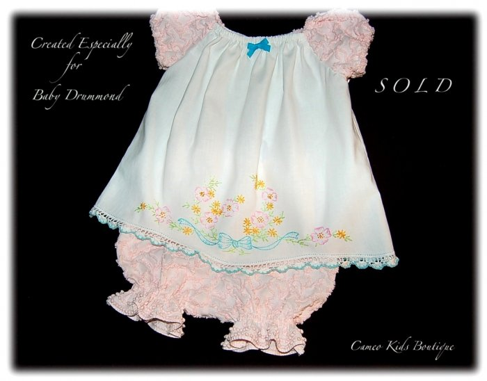 Madison - Vintage Pillowcase Dress - Little Girls Summer Frocks