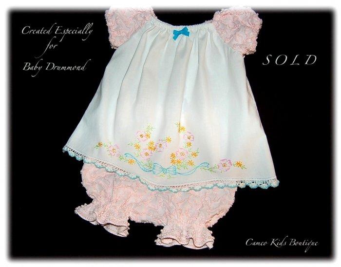 Madison - Vintage Pillowcase Dress - Little Girls Heirloom Dresses