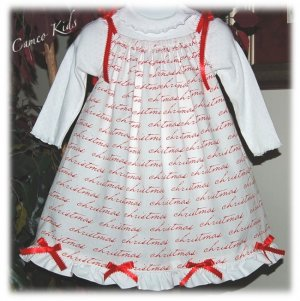 It's Christmas - Pillowcase Dress - Custom Made - Holiday Dress - Girl Christmas Dress
