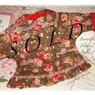 Handmade - Baby - Toddler - Designer Floral Flannel Jacket - Coat