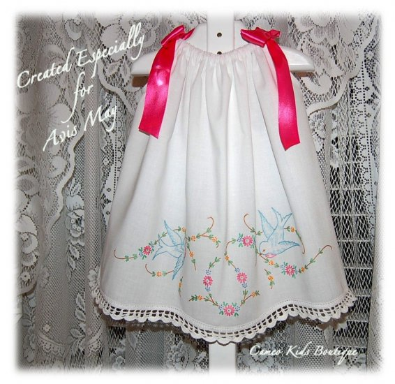 Tasha - Vintage Pillowcase Dress - Day Gown - Beach Dress - Party Dress - Little Girls