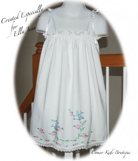 Shari and Cheri - Unique Vintage Baby Dresses - Little Girls Dress - Vintage Pillowcase Dress