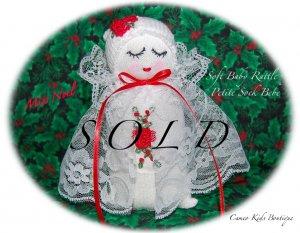 Noel - French Inspired - Sock Baby - Sock Doll - Christmas Doll