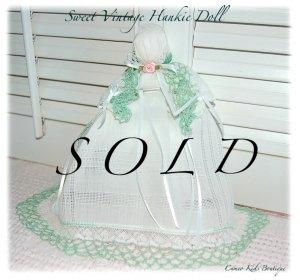 Emily - Vintage Hanky Doll - Church Doll - Hankie Doll