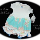 Infant - Baby - Bubble - Romper - Play Suit - Vintage Tablecloth Creation