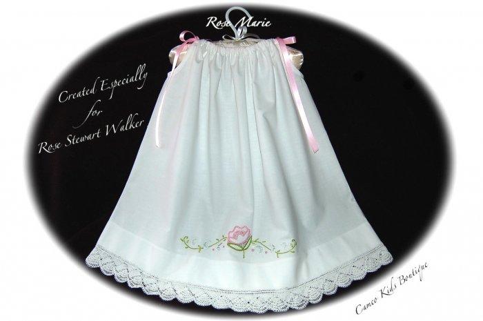 Rose Marie - Vintage Pillowcase Dress - Little Girl Dress - Embroidered Dresses - Portrait Dress