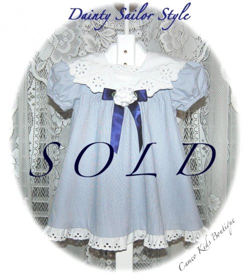 Infant - Toddler - Boutique Sailor Style - Dress - 12M - Resell - Little Girls Clothing