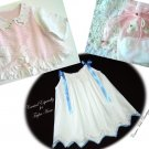 Custom Order for JoAnne - Vintage Pillowcase Dress - Vintage Chenille & Linen Baby Coat - Baby Socks