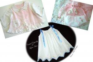 Custom Order for JoAnne - Vintage Pillowcase Dress - Vintage Chenille & Linen Baby Coat - Baby Socks