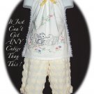 Custom Order for Molly - Little Girls Vintage Embroidered Halter Top and Pant Set