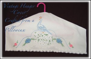 Vintage Embroidered Peacock - Hanger Covers - Clothing Protectors
