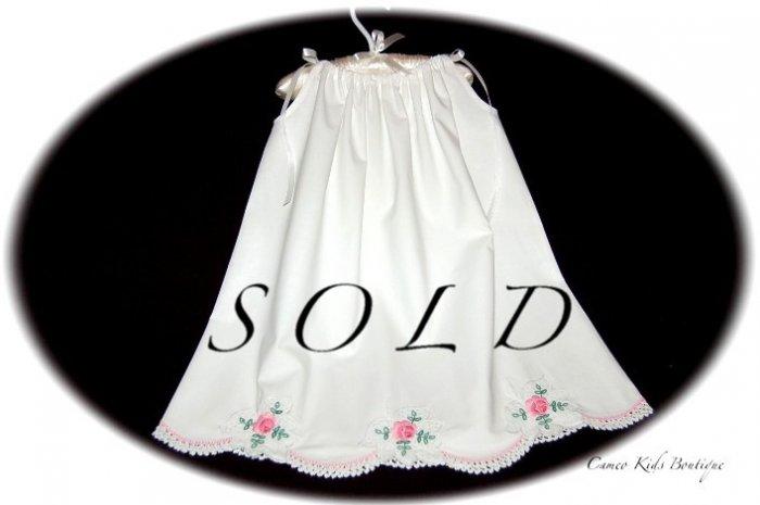 Laurel - Embroidered Pillowcase Dress - Little Girls Summer Frock