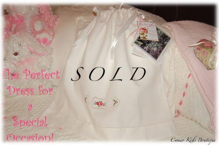 Jennifer - Vintage Pillowcase Dress  - Elegant Little Girls Special Occasion Dresses