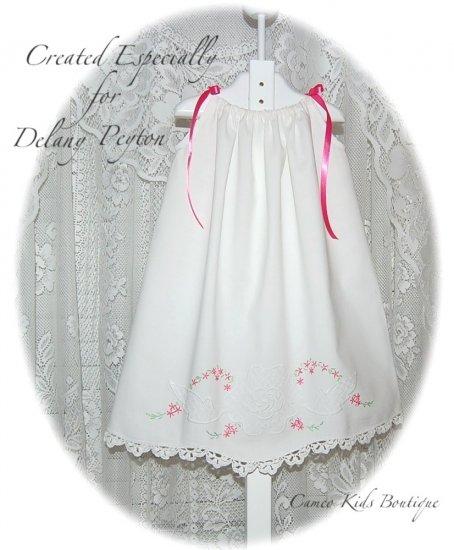 Heirloom Dress for Little Girls - Vintage Pillowcase Dress - Caroline