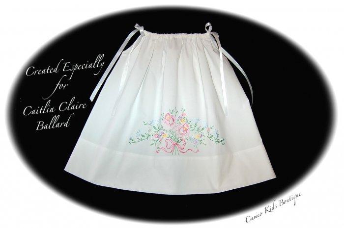 Carolina - Vintage Pillowcase Dress - Heirloom Dress for Little Girls