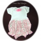 Baby - Infant - Baby Bubble - Suit - Play Suit - Pink Roses - Pink Stripes
