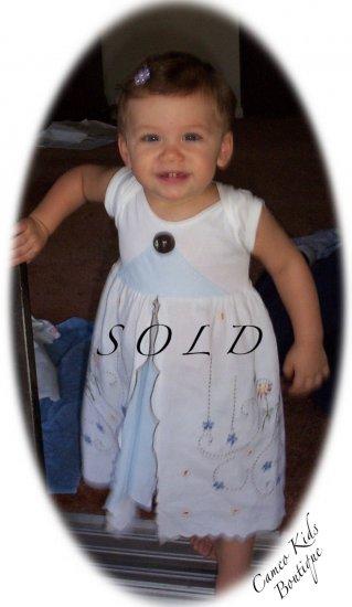 Vintage Pillowcase Dress - Heidi - 12M - 24M Baby - Infant - Toddler - Little Girl Dress