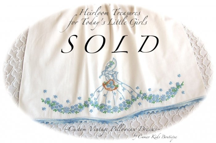 Elizabeth - Southern Belle Pillowcase Dress - Children's Vintage Clothing