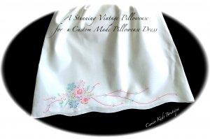 LizzieBelle - Pillowcase Dress - Cross Stitched Florals - Little Girls Dress