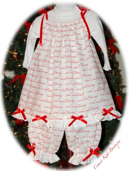 It's Christmas - Pillowcase Dress - Toddler Holiday Dress - Girl Christmas Dress