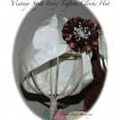 Special Request for Linda - Vintage Style Ivory Taffeta Cloche Hat - Flapper Hat