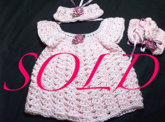 Baby Sweater Dress Set - Preemie - Newborn - Jamie - Baby - Little Girl