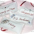 Special Request for Laura - 4 Lavender Sachet Gifts - Handmade - Hand Embroidered