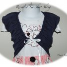 Custom Order  for Ms. Lee - Custom Recycled Tee Shirt Shrug - Altered Couture
