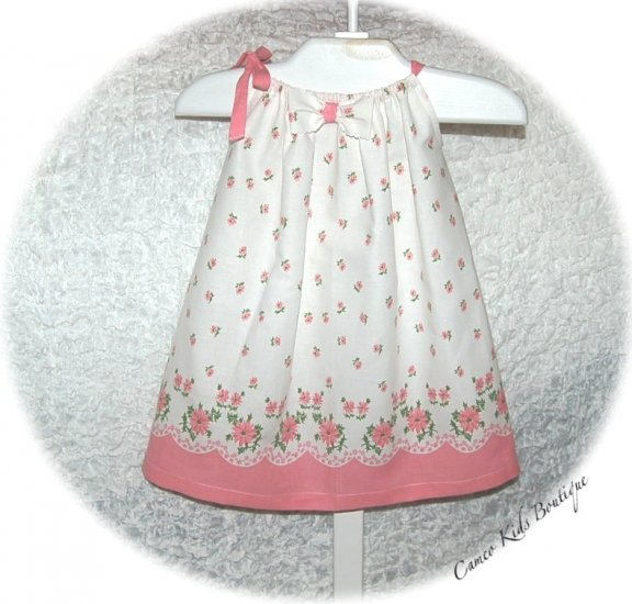 Vintage Feedsack Pillowcase Dress for Little Girls