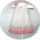 Milia - Sweet Raspberry Pink Floral - Recycled - Vintage Feedsack - Pillowcase Dress