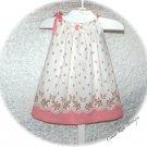 Milia - Sweet Raspberry Pink Floral - Recycled - Vintage Feedsack - Pillowcase Dress