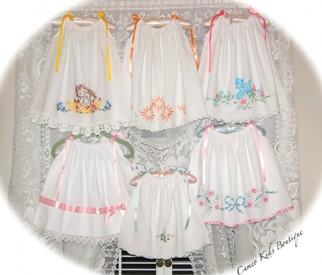 Custom Order for Catherine P Only - Six Vintage Pillowcase Dresses - Newborn to Size 12M