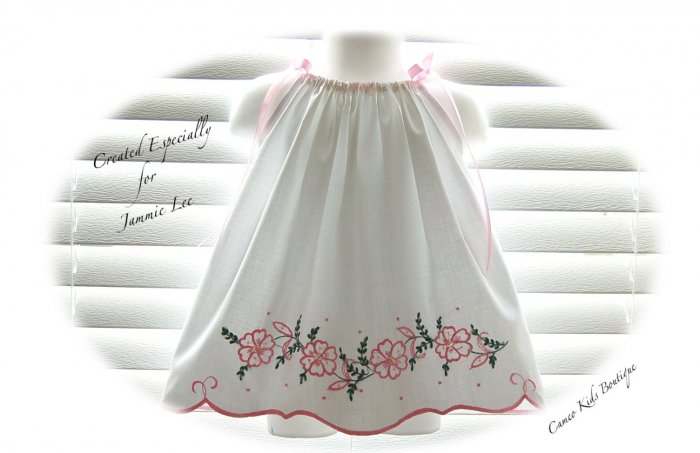 Cammie - Vintage Pillowcase Dress - Little Girls Embroidered Dresses