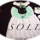 Baby Sweater Dress Set - Sofia - Preemie - Newborn - Baby - Girl