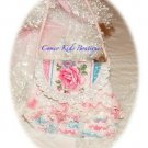 Sweet Little Girls Vintage Inspired Purse - Rose Foral - Vintage Pink Lace