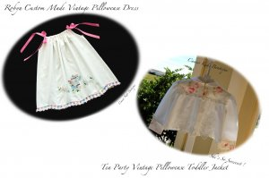 Special Request Order for Connie Dehart Only - Pillowcase Dress - Tea Time Jacket
