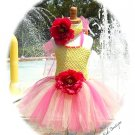 Strawberry Lemonade Toddler Tutu Dress - Headband  Birthday   Tea Parties  Princess Party