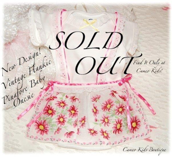 New Design - Baby Pinafore - Vintage Hanky Onesie - Unique Baby Gifts - Custom Order
