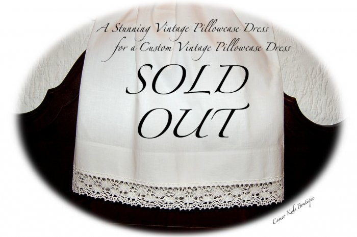 Soiree - Vintage White Lace Pillowcase Dress- Easter - Spring - Summer