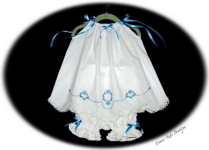 Lexi - Embroidered Pillowcase - Dress - LIttle Girls Day Dress