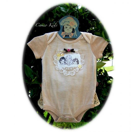 Vintage Inspired Baby Onesie - Altered Couture