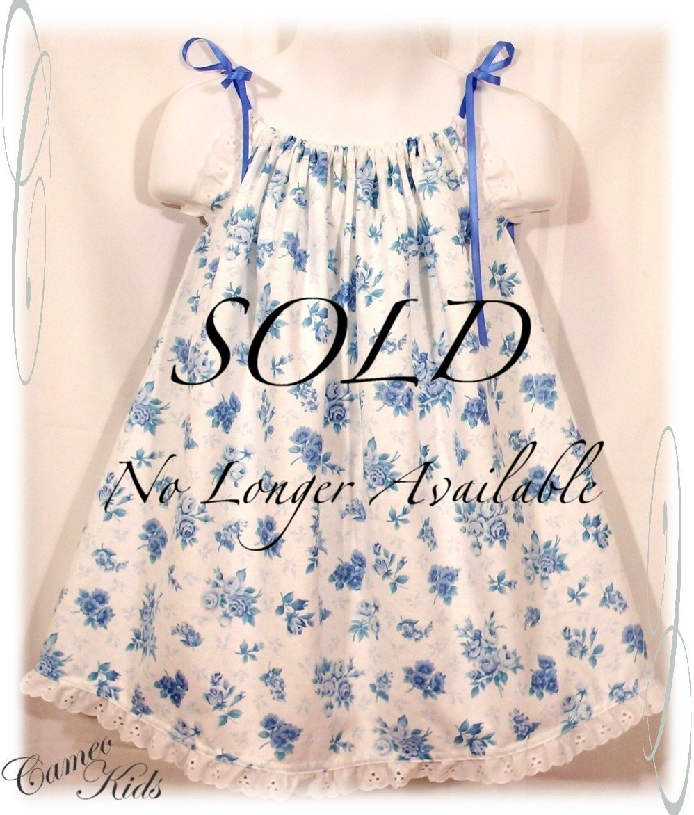 Blue Floral Pillowcase Dress - Toddler Dress - Little Girl Summer Dress - Olivia