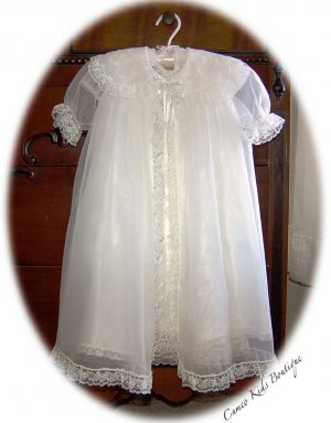 1950's Vintage Baby Christening Dress - Slip - Coat - Bonnet